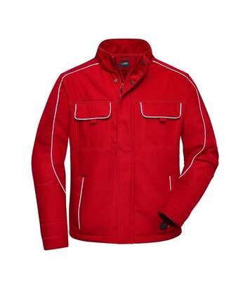 Veste blouson de travail légère softshell mixte - JN884 - rouge