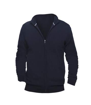 SOLS Mens Gordon Full Zip Cardigan (Navy) - UTPC504