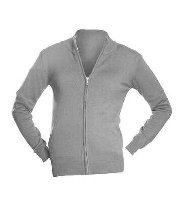 SOLS Womens/Ladies Gordon Full Zip Cardigan (Grey) - UTPC505