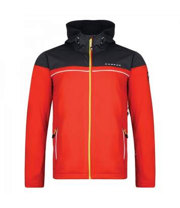 Dare2B Mens Amnesty Softshell Jacket (Orient Red/Signal Black) - UTRG3590