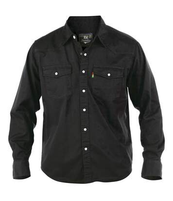 Duke Mens Western Style Denim Shirt (Black) - UTDC101
