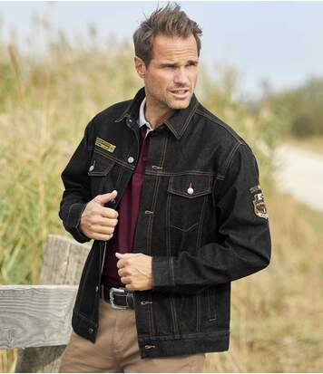Men's Stylish Black Denim Jacket
