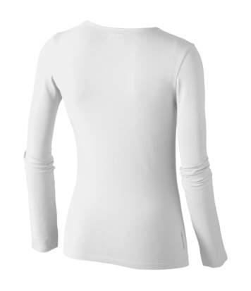 Slazenger Curve - T-Shirt À Manches Longues - Femme (Blanc) - UTPF1726