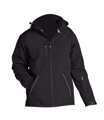 SOLS Mens Rock Soft Shell Jacket (Breathable, Windproof And Water Resistant) (Black) - UTPC413