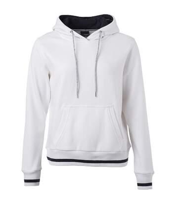 Sweat shirt à capuche femme - JN777 - blanc