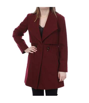 Manteau bordeaux femme French Connection RUNAWAY WOOL