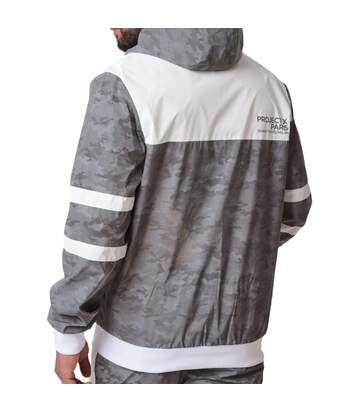 Veste bi-matière réfléchissante blanc homme Project X Paris