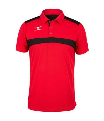 Polo de rugby manches courtes homme - GI017 - rouge