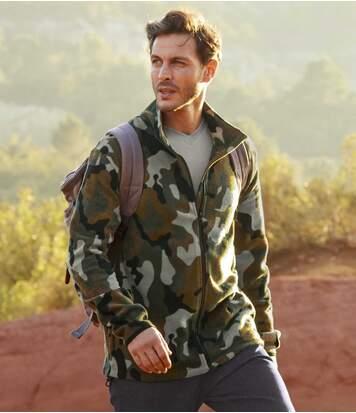 Men's Camouflage Fleece Jacket