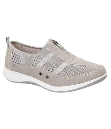 Boulevard Womens/Ladies Suede/Textile Shoes (Grey) - UTDF1582