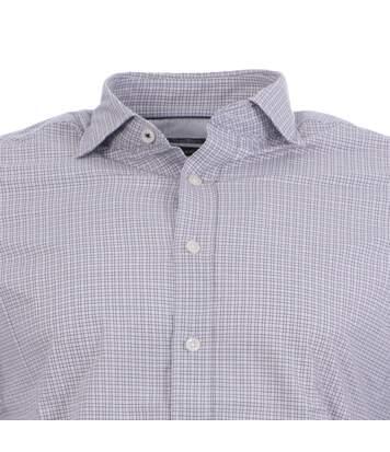Chemise grise à carreaux Homme Hackett Zephyr outline Gingham
