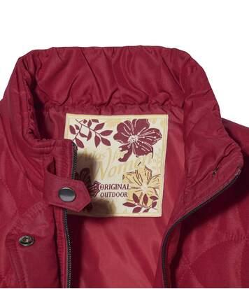 Módna prešívaná bunda Ruža