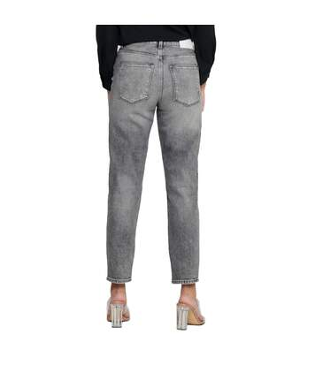 Jeans Taille Haute Gris Femme Only Emily