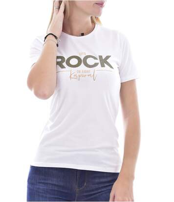 Tee shirt stretch à logo   -  Femme - Kaporal