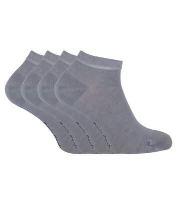 4 Pk Unisex Bamboo Breathable Trainer Socks