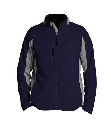 SOLS Mens Nordic Full Zip Contrast Fleece Jacket (Navy/Medium Grey) - UTPC409