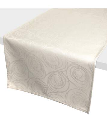 Chemin de table 45x150 cm Jacquard 100% coton SPIRALE ecru