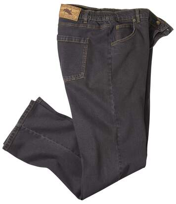Men's Brown Stretch Comfort Jeans