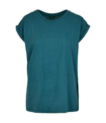 Build Your Brand Womens/Ladies Extended Shoulder T-Shirt (Teal) - UTRW5675