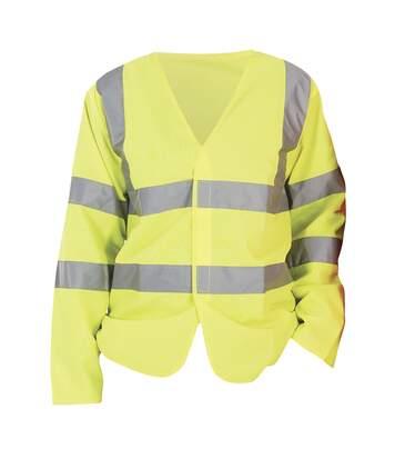 Yoko Mens Hi-Vis Long Sleeve Waistcoat / Jacket (Hi-Vis Yellow) - UTBC1238