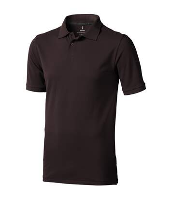 Elevate Mens Calgary Short Sleeve Polo (Pack of 2) (Chocolate Brown) - UTPF2498