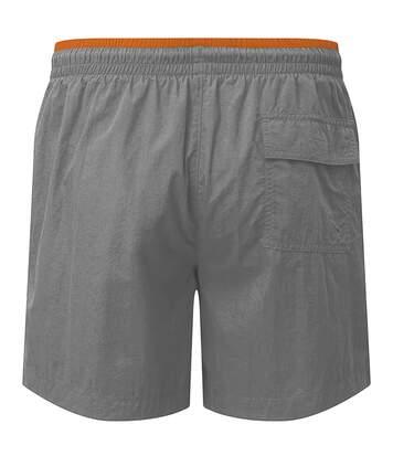Asquith & Fox Mens Swim Shorts (Slate/Orange) - UTRW6242