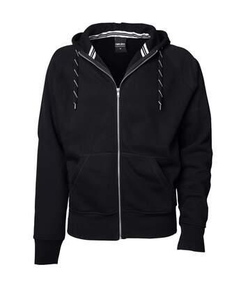 Tee Jays Mens Full Zip Hooded Sweatshirt (Black) - UTBC3319