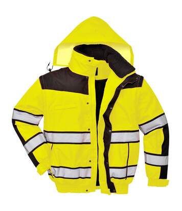 Portwest Mens High Visibility Classic All Weather Bomber Jacket (Pack of 2) (Yellow/ Black) - UTRW6879
