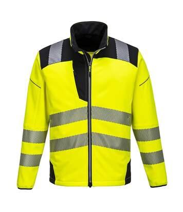 Portwest Mens PW3 Hi-Vis Soft Shell Jacket (Yellow/Black) - UTPC3533