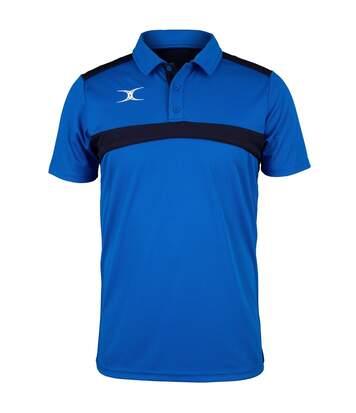Polo de rugby manches courtes homme - GI017 - bleu roi