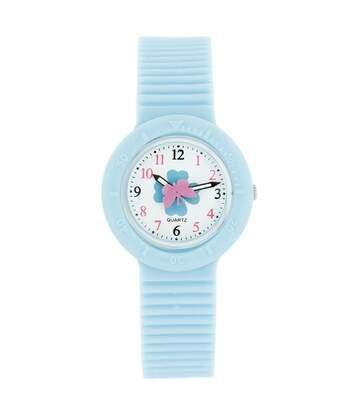 Montre Femme BELLOS bracelet Silicone Bleu