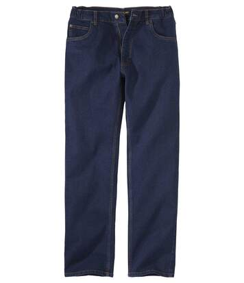 Men's Dark Blue Stretch Comfort Jeans