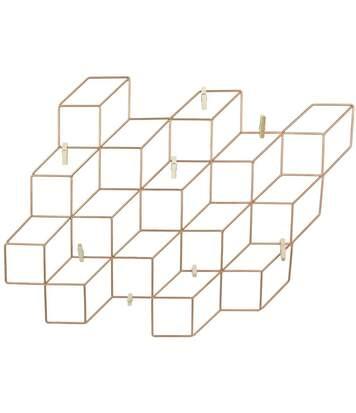 Pêle-mêle cubes filaires avec 8 pinces 46 cm
