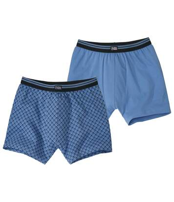 Set van 2 blauwe stretch boxershorts