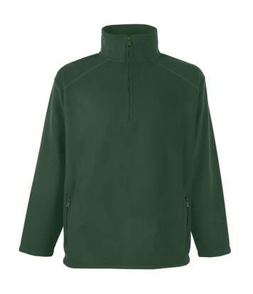 Fruit Of The Loom Mens Half Zip Outdoor Fleece Top (Bottle Green) - UTBC374