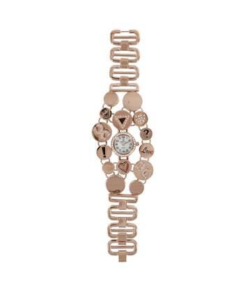 Montre Femme M. JOHN bracelet Acier Rose Métal