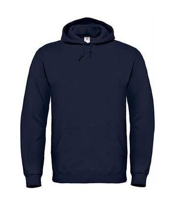 B&C Mens Hooded Sweatshirt / Hoodie (Navy Blue) - UTBC127
