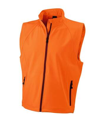 Gilet sans manches softshell coupe-vent imperméable - JN1022 - orange - homme