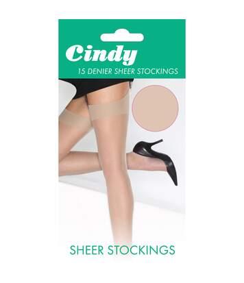 Cindy - Bas Pour Porte-Jarretelles 15 Deniers (1 Paire) - Femme (Bambou) - UTLW110