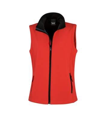 Result Core Womens/Ladies Printable Softshell Bodywarmer (Red / Black) - UTRW3698