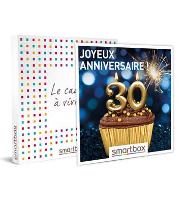 SMARTBOX - Joyeux anniversaire ! Pour homme 30 ans - Coffret Cadeau Multi-thèmes