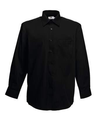 Fruit Of The Loom Mens Long Sleeve Poplin Shirt (White) - UTBC405