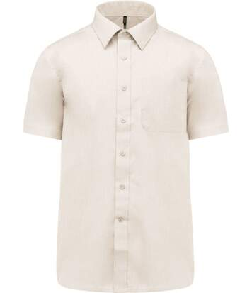 Chemise popeline manches courtes - K551- beige angorra - homme