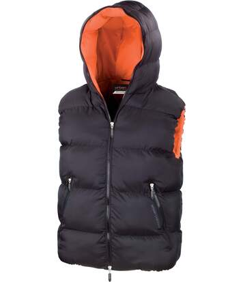 BODYWARMER DAX Black / Orange