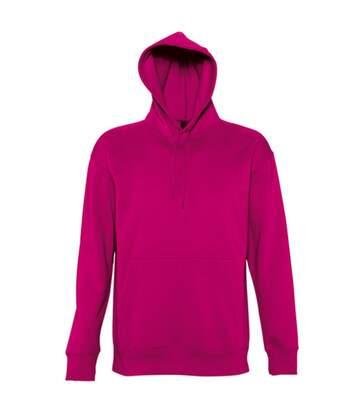 SOLS Slam Unisex Hooded Sweatshirt / Hoodie (Fuchsia) - UTPC381