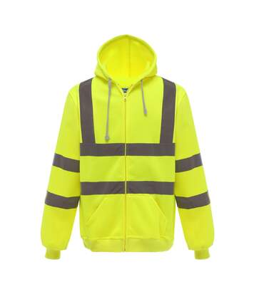 Yoko Mens Hi Visibility Full Zip Reflective Work Hoodie (Yellow) - UTRW5256