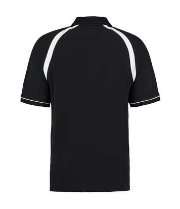 Kustom Kit Oak Hill Mens Short Sleeve Polo Shirt (Charcoal/Orange) - UTBC616