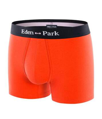 EDEN PARK Boxer Homme Coton ONE Orange Marine