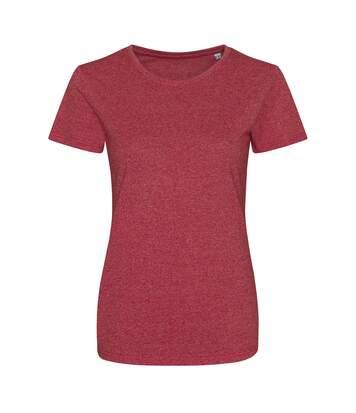 Awdis - T Shirt - Femme (Rouge/ blanc) - UTPC2898