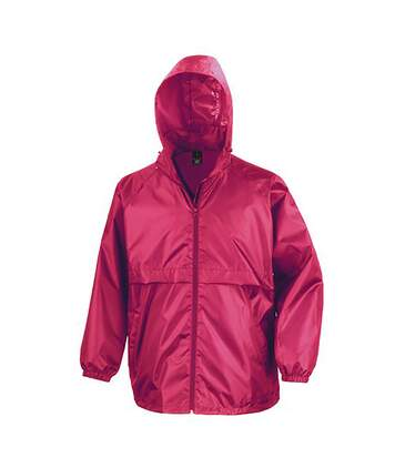 Result Mens Core Adult Windcheater Water Repellent Windproof Jacket (Hot Pink) - UTBC897